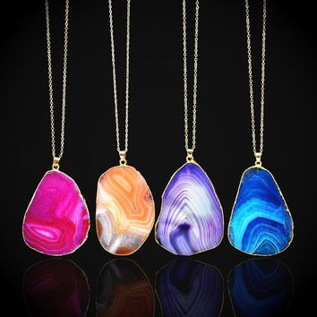 Stylish Shiny Jewelry New Arrival Gift Crystal Pendant Chain Sweater Necklace [521517957174]