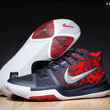 Nike Kyrie Owen 3 Women's Men's Basketball Shoes F-SSRS-CJZX Black