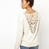 River Island | River Island Long Sleeve Lace Back Sweat at ASOS