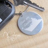 Military, Army, Navy, Personalised Keyring, Custom Keychain, Stainless Steel, Personalised Gift, Boyfriend Gift, Husband Gift, Gift for Dad