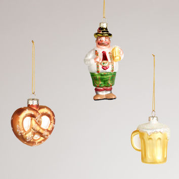 Germany Glass Ornaments,  Set of 3 - World Market