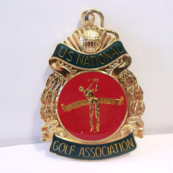 US National Golf Association Medal Senior Open Golfer Pendant Sports Golfing