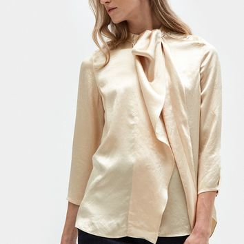 Acne Studios / Bodil Satin Blouse in Champagne