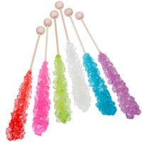 Mountain-Size Rock Candy Crystal Sticks: Set of 6 Tubes