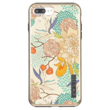 Modern Rose Peony Flower Pattern Incipio DualPro Shine iPhone 7 Plus Case