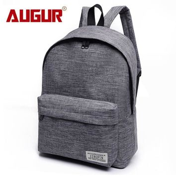 AUGUR Canvas Men Women Backpack College High Middle School Bags For Teenager Boy Girls Laptop Travel Backpacks Mochila Rucksacks