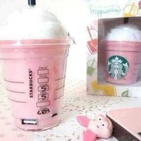 New Arrival newest 3 colors Starbucks power bank 5200mAh portable charger For iphone 5 6 plus External backup battery