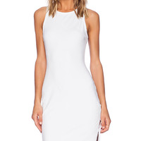 Bobi Spandex Tank Midi Dress in White