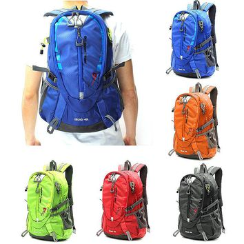 40L Waterproof Nylon Hiking Backpack