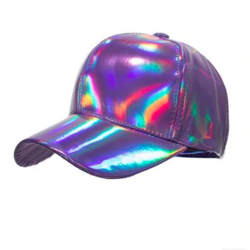 Purple Laser Iridescent Baseball Cap