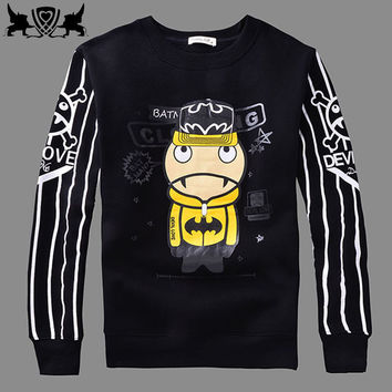 Winter Cartoons Anime Cotton Fleece Pullover Couple Hoodies [6543881219]