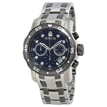 Invicta Pro Diver Chronograph Black Dial Stainless Steel Mens Watch 14339