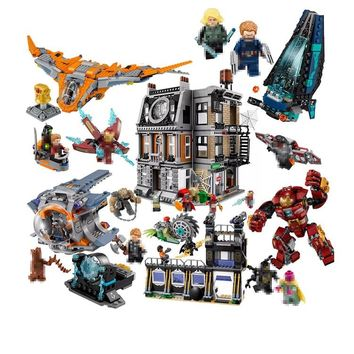 Lepin Super Heroes Ironman Buster Mech spiderman Building Blocks Bricks legoINGly Toys Avengers Ultron Marvel Infinity War DC