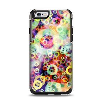 The Rainbow Colored Unfocused Light Circles Apple iPhone 6 Otterbox Symmetry Case Skin Set