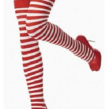 Free Shipping New arrival Polyester OVER THE KNEE SOCKS Rainbow Colorful High Thigh Ladies Long Womens  Stocking