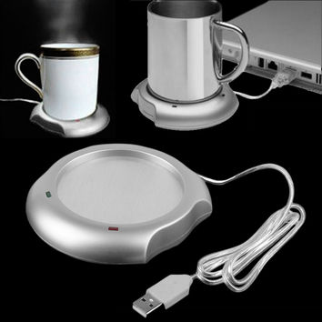 2016 Home Use USB Insulation Coaster Heater Heat Insulation electric multifunction Coffee Cup Mug Mat Pad