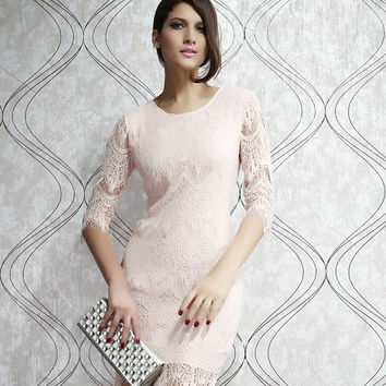 Wrap Slim New Arrival Lace Skinny One Piece Dress = 4804055940