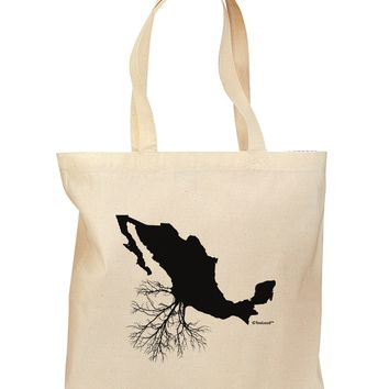 Mexican Roots Design Grocery Tote Bag by TooLoud