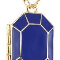 "kate spade new york ""Jewelbar"" Royal Enamel Locket Pendant Necklace"