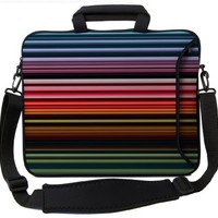 Designer Sleeves Retro Stripes Executive Case for 14-Inch Laptop, Red (14ES-RS)