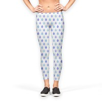 Blue droplets pattern Leggings by Savousepate from €37.00   miPic