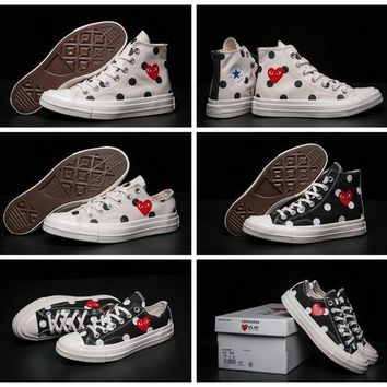 2017 CDG Play Converse 1970s Chuck Taylor Shoes Men Women Running Low High Top Skatebo