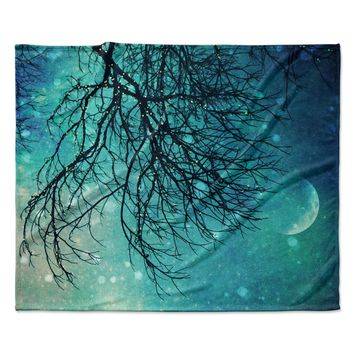 "Sylvia Cook ""Winter Moon"" Fleece Throw Blanket"