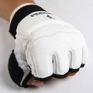 Wrist support Pad TKD palm paw Protector guards MMA Half finger Boxing Gloves Hand Foot Protective glove gear karate protector