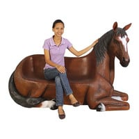 Park Avenue Collection Saddle Up Horse Bench