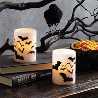 Bat Pillar Candles, Set of 2 | Pottery Barn Kids