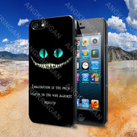 Disney Quote Alice In Wonderland  - iPhone 4 4S iPhone 5 5S 5C and Samsung Galaxy S2 S3 S4 Case