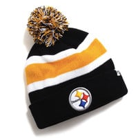 Pittsburgh Steelers Breakaway Cuff Knit Pom Beanie Black