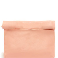 Roll Along Peach Clutch
