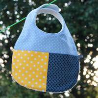 Baby Bib - Blue And Yellow Spots on Luulla