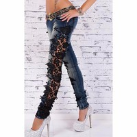 Fashion Lace Women Jeans