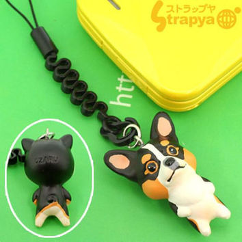 Pet Lovers Hand Made Petite Dog Cell Phone Strap Cell Phone Jewelry Strap Charm (Corgie Black)- 123-942212