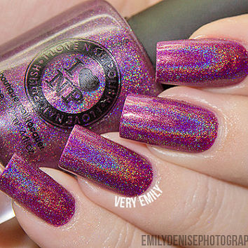 Kings & Queens - Ultra Holographic Nail Polish - Deep Burgundy