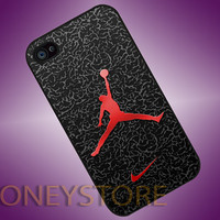 Nike Air Jordan Logo Custom - Photo Print for iPhone 4/4s, iPhone 5/5C, Samsung S3 i9300, Samsung S4 i9500 Hard Case