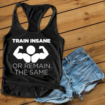 Train Insane Women's Ideal Racerback Tank