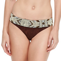 Beaded-Belt Swim Bottom, Size: