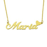 Personalized Name Necklace Custom Name Plate Necklace for Her Valentines Gift