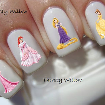 Disney Princess Waterslide Nail Decals Water Transfers