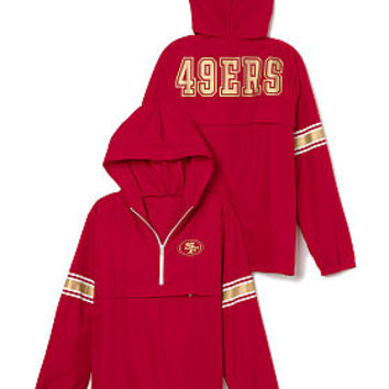 San Francisco 49ers Half-Zip Windbreaker