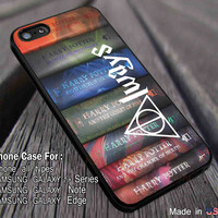 Harry Potter Books  iPhone 6s 6 6s+ 5s 5c 4s Cases Samsung Galaxy s5 s6 Edge+ NOTE 5 4 3 #movie #HarryPotter dl5