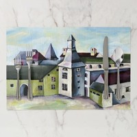 Liege, A Surreal Mystical Stone Castle Placemat