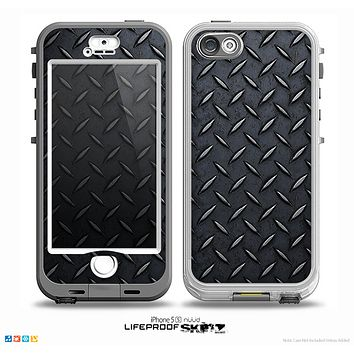 The Dark Diamond Plate Skin for the iPhone 5-5s NUUD LifeProof Case for the LifeProof Skin