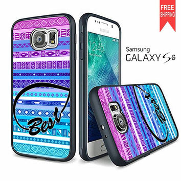 Best Friend Infinity Chevron Aztec 1 Samsung Galaxy S6 edge Case
