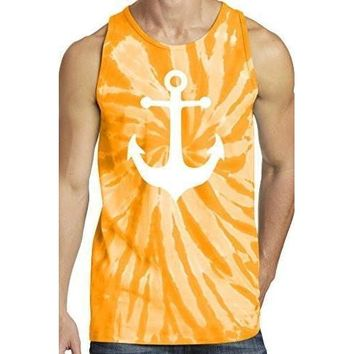 Yoga Clothing for You Mens Anchor Tie Dye Tank Top