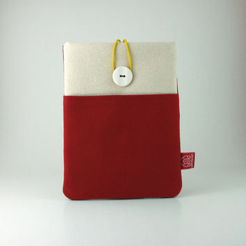Red, Tablet  Case,  Padded, Button closed, iPad Air, iPad Mini, Samsung Galaxy Tab, Android Tablet, İpad Air case, Custom Case, Macbook
