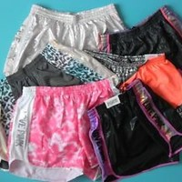 Victoria's Secret PINK Campus Short Running sports Pink Black Blue Gray U-PICK